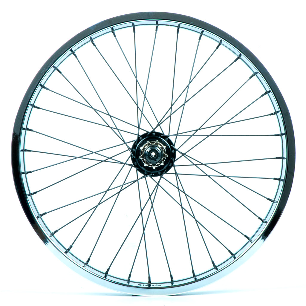Tall Order Dynamics LHD Cassette Wheel - Black With Chrome Rim 9 Tooth | BMX