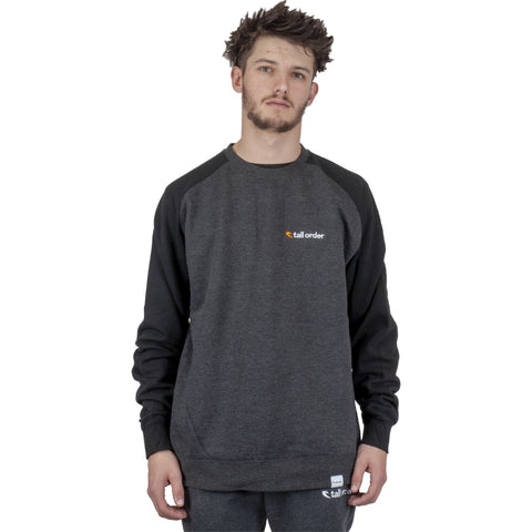 Tall Order Embroidered Logo Crew Sweatshirt - Black / Grey | BMX