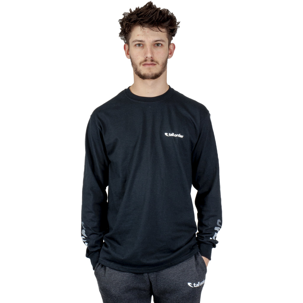 Tall Order Faded Sleeve Logo Long Sleeve T-Shirt - Black | BMX