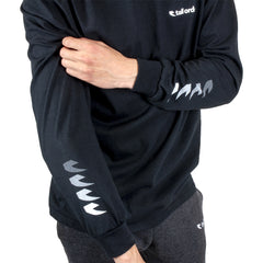 Tall Order Faded Sleeve Logo Long Sleeve T-Shirt - Black