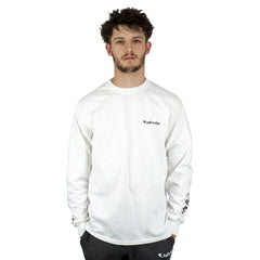 Tall Order Faded Sleeve Logo Long Sleeve T-Shirt - White | BMX