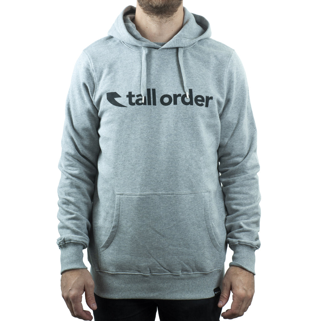 Tall Order Font Hooded Sweatshirt - Grey