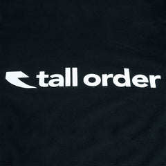 Tall Order Font T-shirt - Black