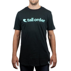 Tall Order Font T-Shirt - Black With Teal Print | BMX