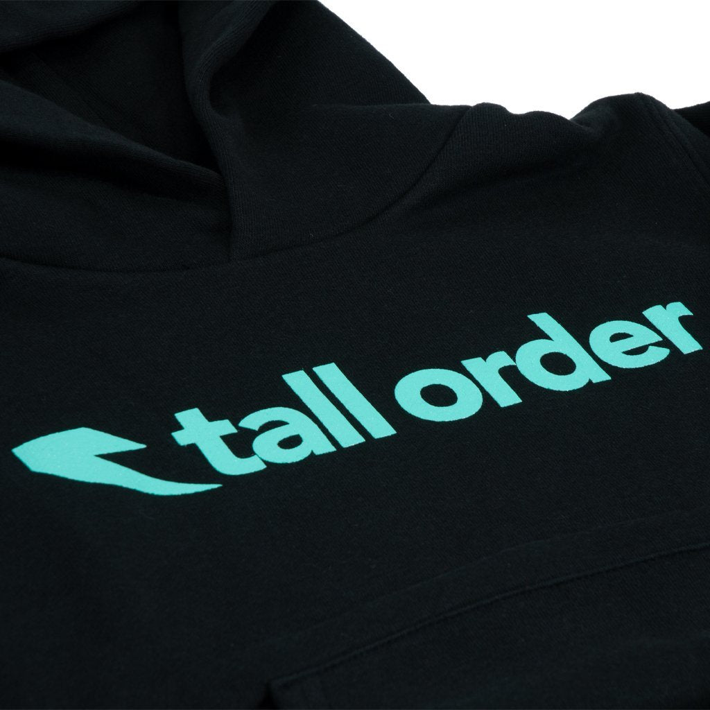 Tall Order Font Kids Hooded Sweatshirt - Black | BMX