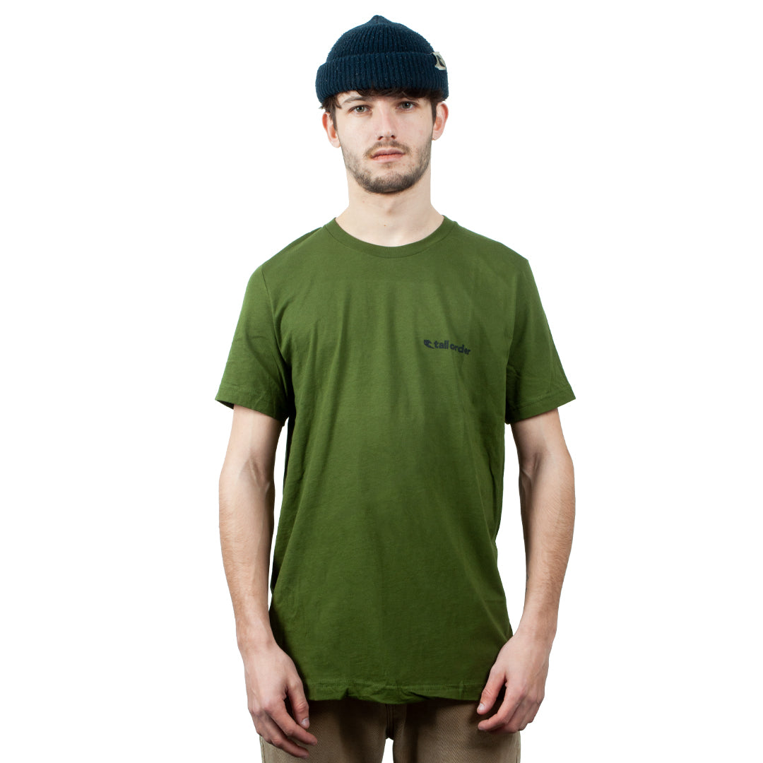 Tall Order Army Small Logo T-Shirt - Green | BMX