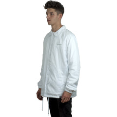 Tall Order Logo Coach Jacket White
