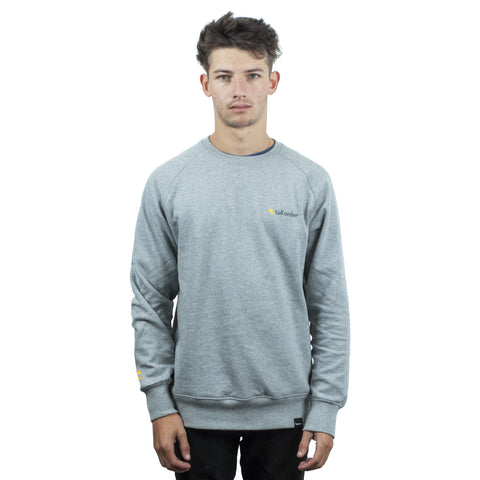 Tall Order Orange Logo Crew Sweatshirt - Grey | BMX
