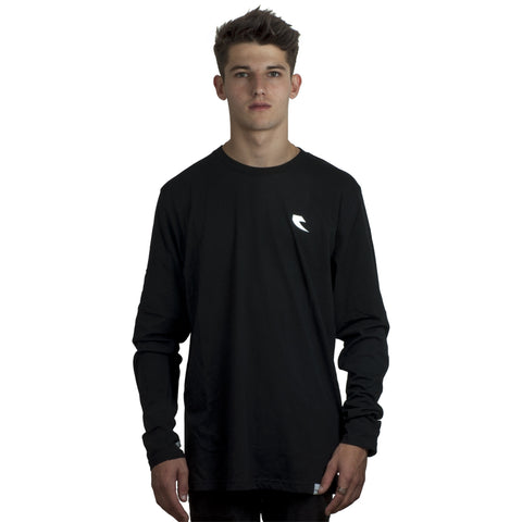 Tall Order Sleeve Logo Long Sleeve T-shirt - Black