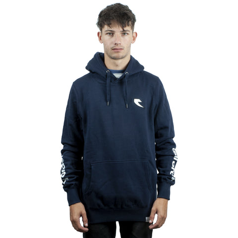 Tall Order Patch Logo Hooded Sweatshirt - Navy Blue | BMX