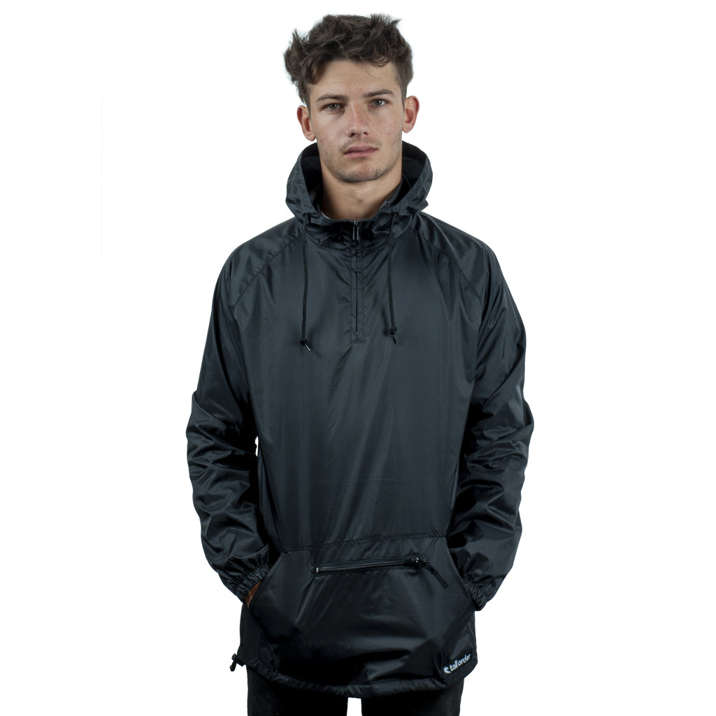 Tall Order Patch Logo Anorak - Black | BMX