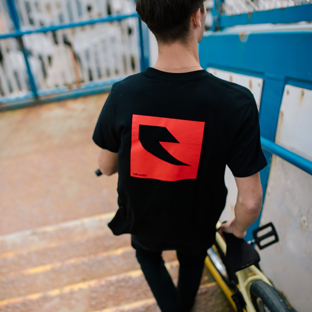 Tall Order Red Square Logo T-Shirt - Black