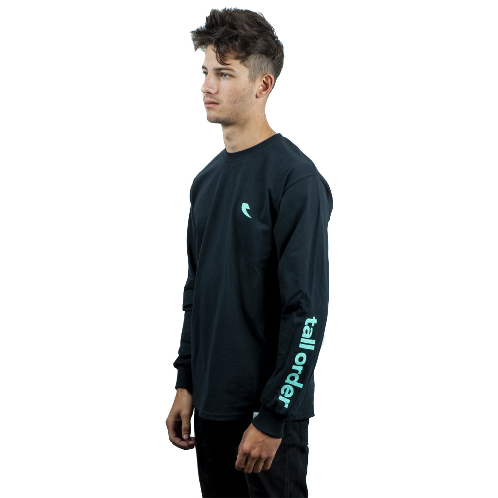 Tall Order Teal Sleeve Logo Long Sleeve T-Shirt - Black | BMX