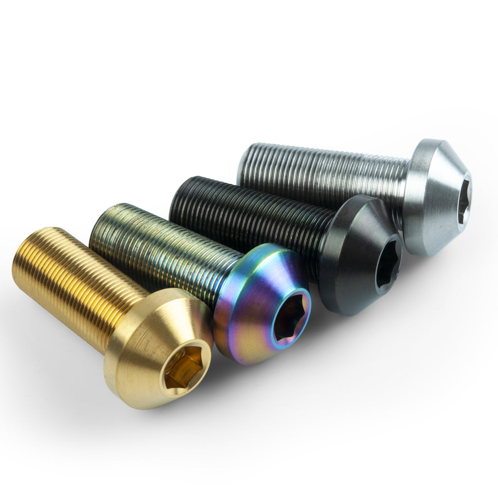 TLC Titanium 14mm Female Axle Bolt (Each) - Rainbow