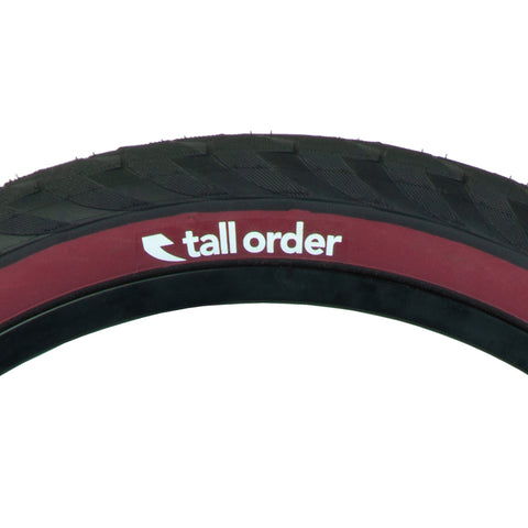 Tall Order Wallride Tyre - Black With Red Sidewall 2.30"