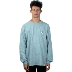 Tall Order Patch Logo Long Sleeve T-Shirt - Grey