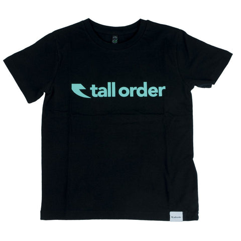 Tall Order Logo Kids T-Shirt - Black | BMX