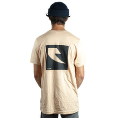 Tall Order Square Logo T-Shirt - Sand With Black Print | BMX