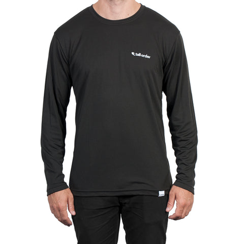Tall Order Logo Breathe-Tech Long Sleeve T-shirt - Black