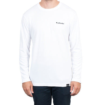 Tall Order Logo Breathe-Tech Long Sleeve T-shirt - White