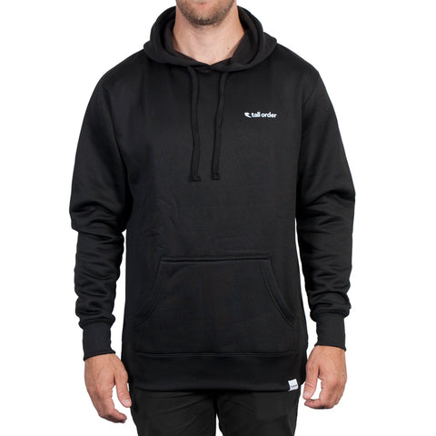 Tall Order Logo Poly-Tech Hooded Sweatshirt - Black