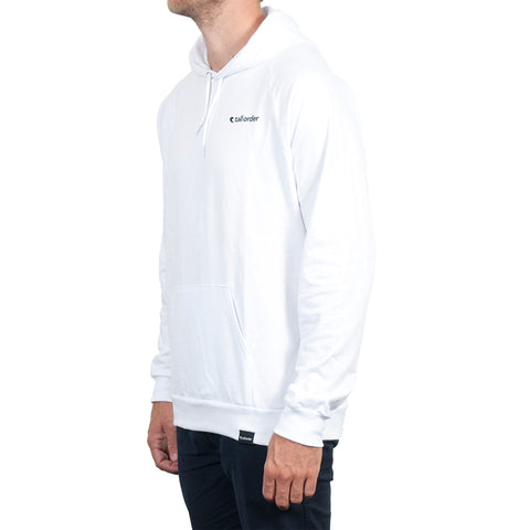 Tall Order Logo Hooded Sweatshirt - White