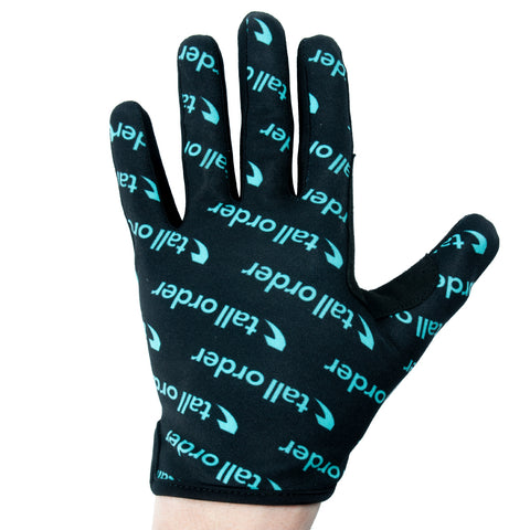 Tall Order Barspin Print Gloves - Black With Teal Print | BMX