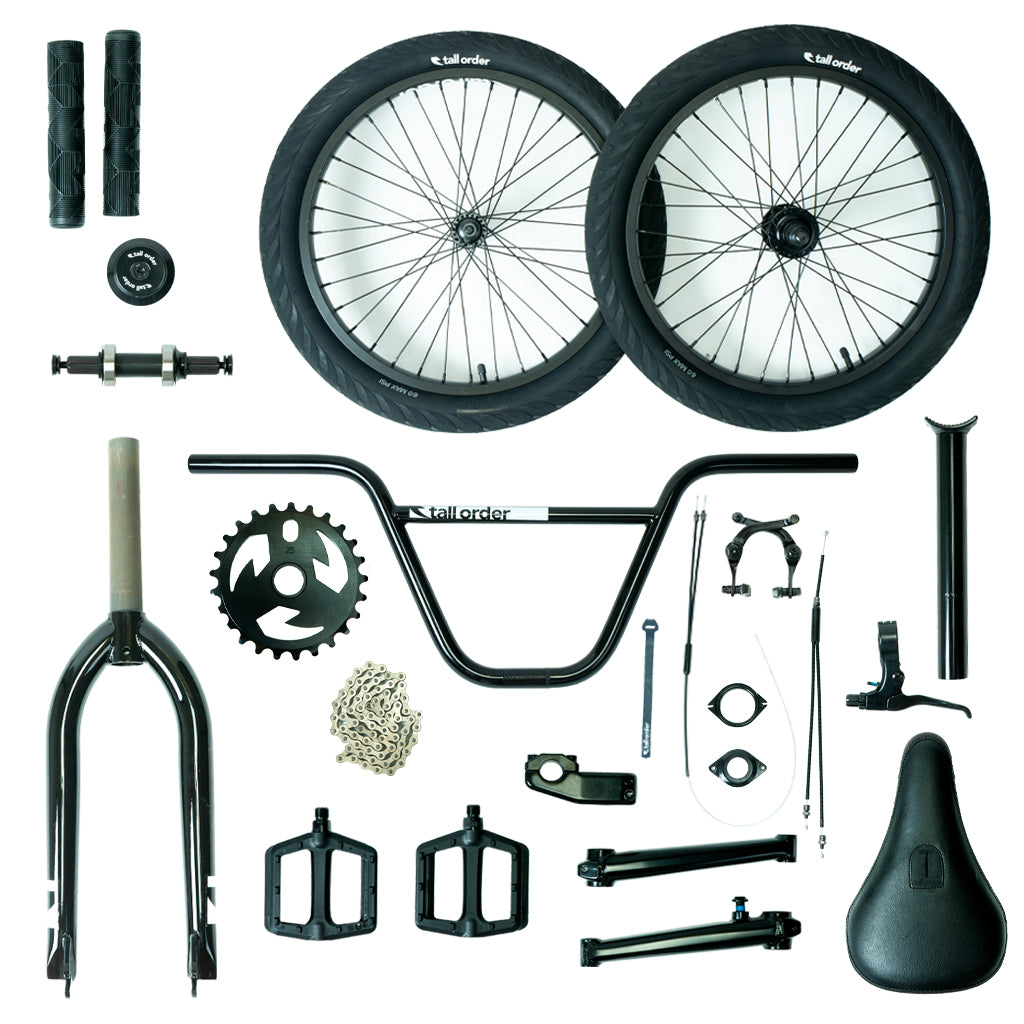 Tall Order Pro Park Bike Parts Kit - Black