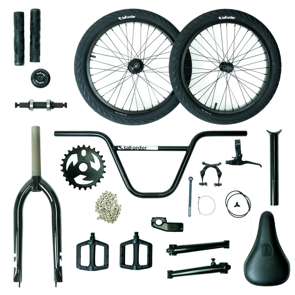 Tall Order Pro Bike Parts Kit - Black