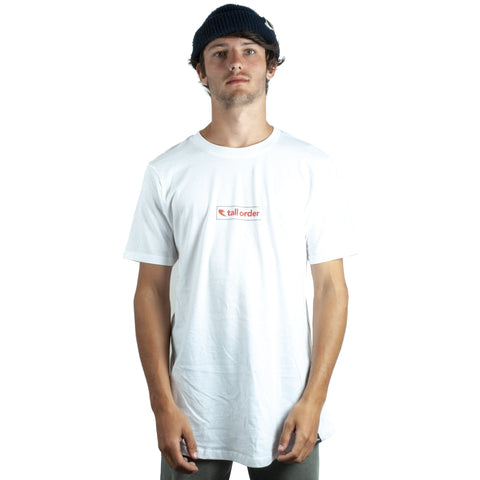 Tall Order Box Logo T-Shirt - White With Red Print | BMX