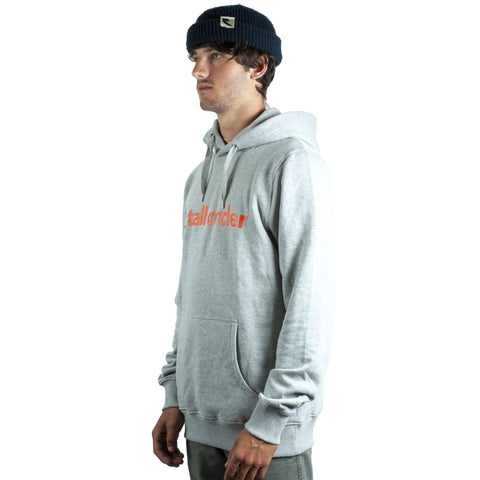 Tall Order Font Hoodie - Grey With Red Print | BMX
