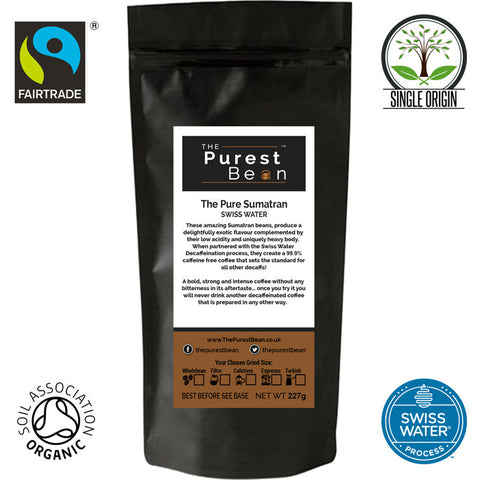The Pure Sumatran - Decaffeinated - 227g Bag