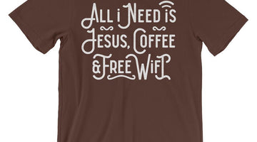 Coffee and Jesus Shirt. Buy here on Passion Fury!