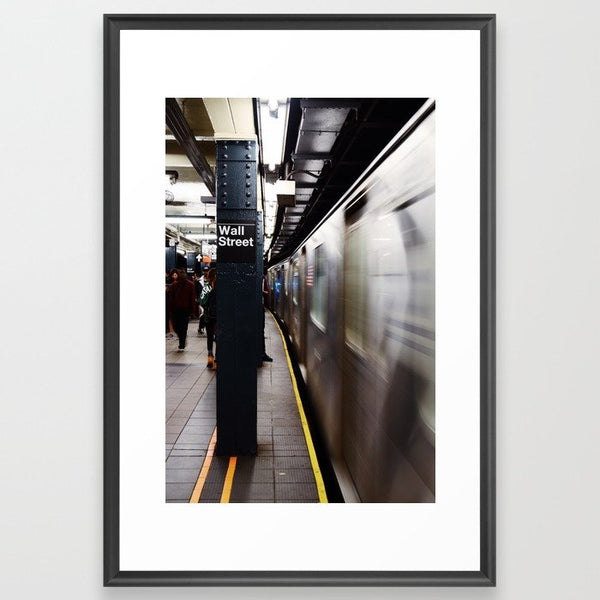 Wallstreet Subway Framed Art Print image