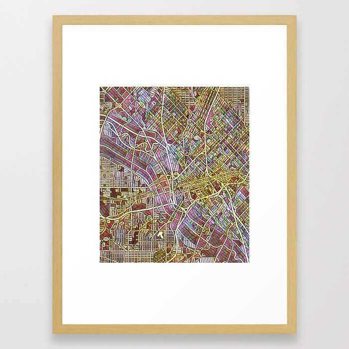 Dallas Color Variation 1 Framed Art Print