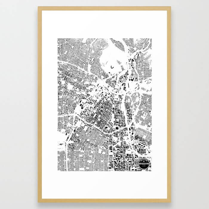 1. LOS ANGELES Framed Art Print
