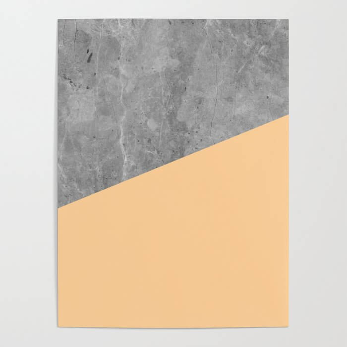 Geometry 101 Orange Sherbet Poster