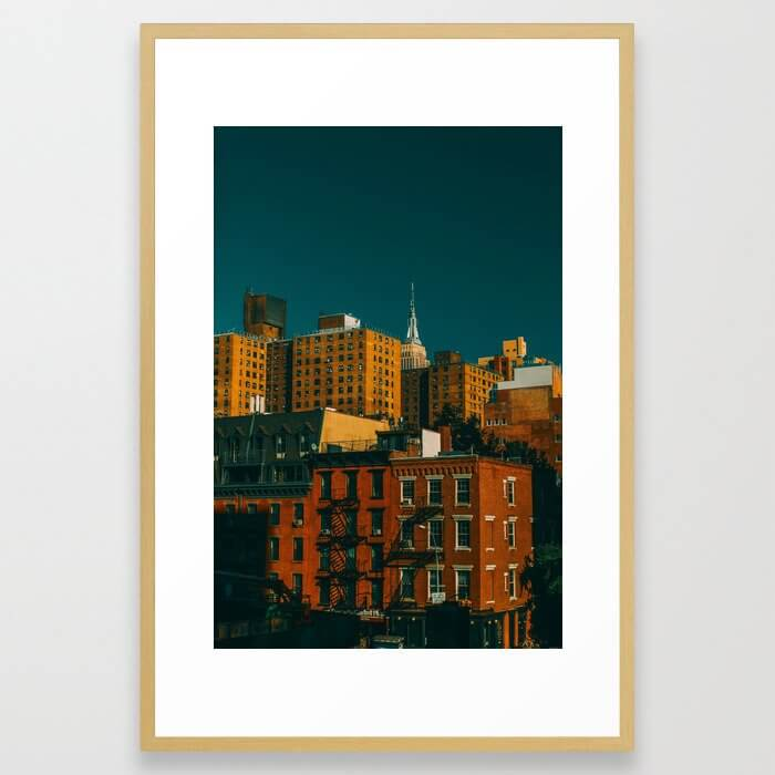 New York City Apartments (Color) Framed Art