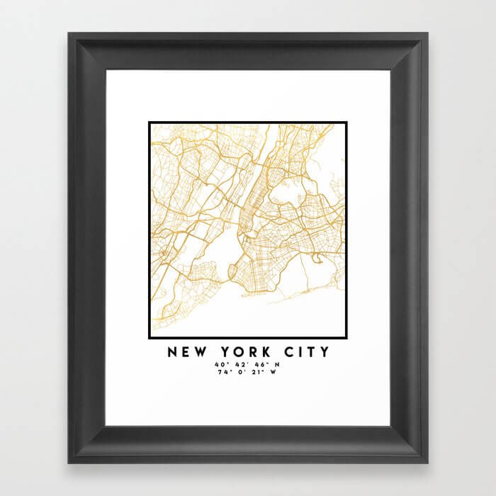NEW YORK CITY NEW YORK CITY STREET MAP ART image