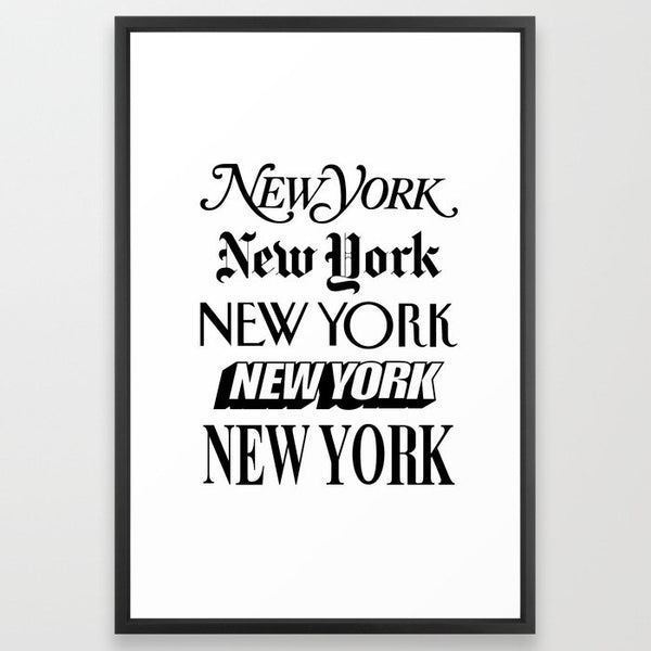 I Heart New York City Black and White New York Poster I Love NYC Design image