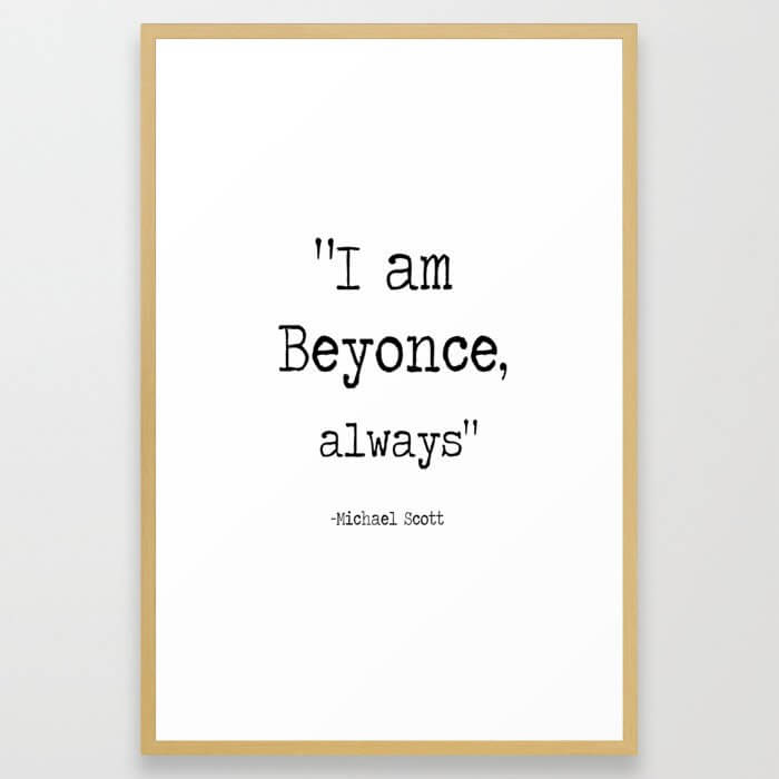 "The Office Micheal Scott Quote "" I am bee, always "" Framed Art Print"