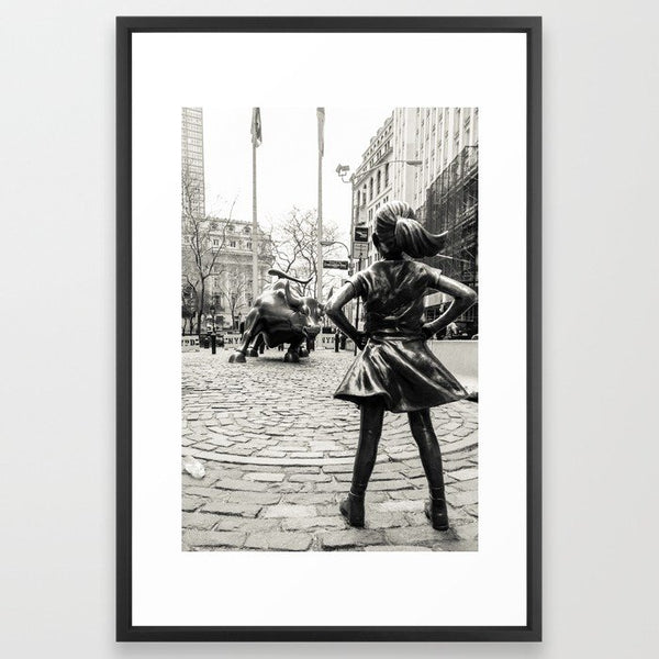 Fearless Girl & Bull - NYC Framed Art Print image