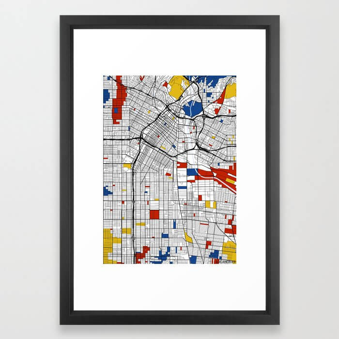 Los Angeles Mondrian Framed Art Print