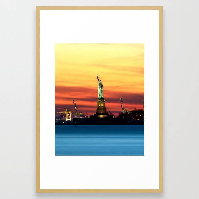 Statue of Liberty NYC (Color) Framed Art