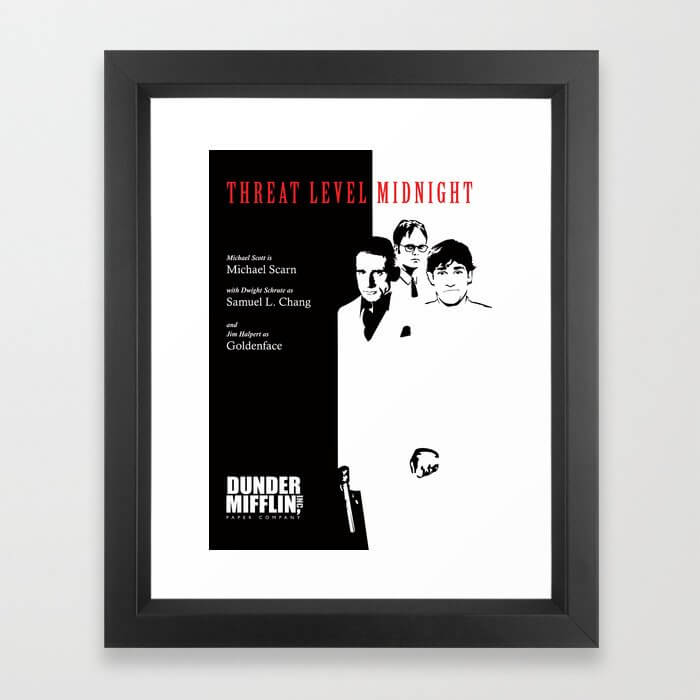 The Office Poster - Threat Level Midnight Framed Art Print