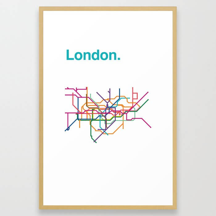 London Transit Map Framed Art Print