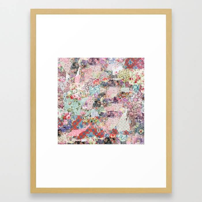 Phoenix map flowers Framed Art Print