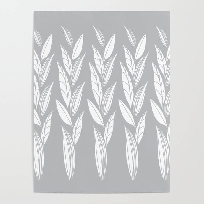 Eternity in Silver Leaf Poster