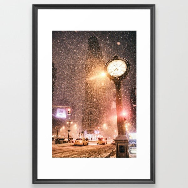 New York City Snow Framed Art Print image