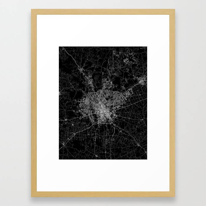 san antonio map Framed Art Print